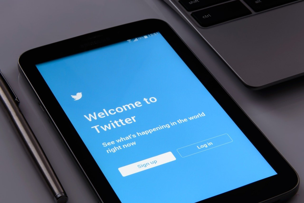 twitter logo and slogan